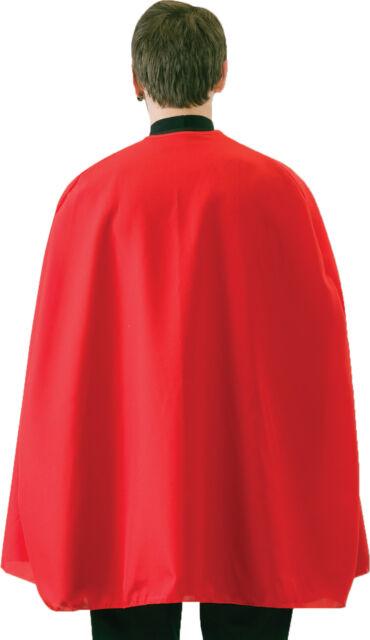 Superhero Cape 36 inch Adult Red Blue Green Black Pink Halloween
