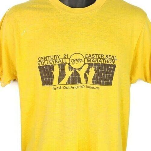 Easter Seal Volleyball Marathon T Shirt Vintage 80