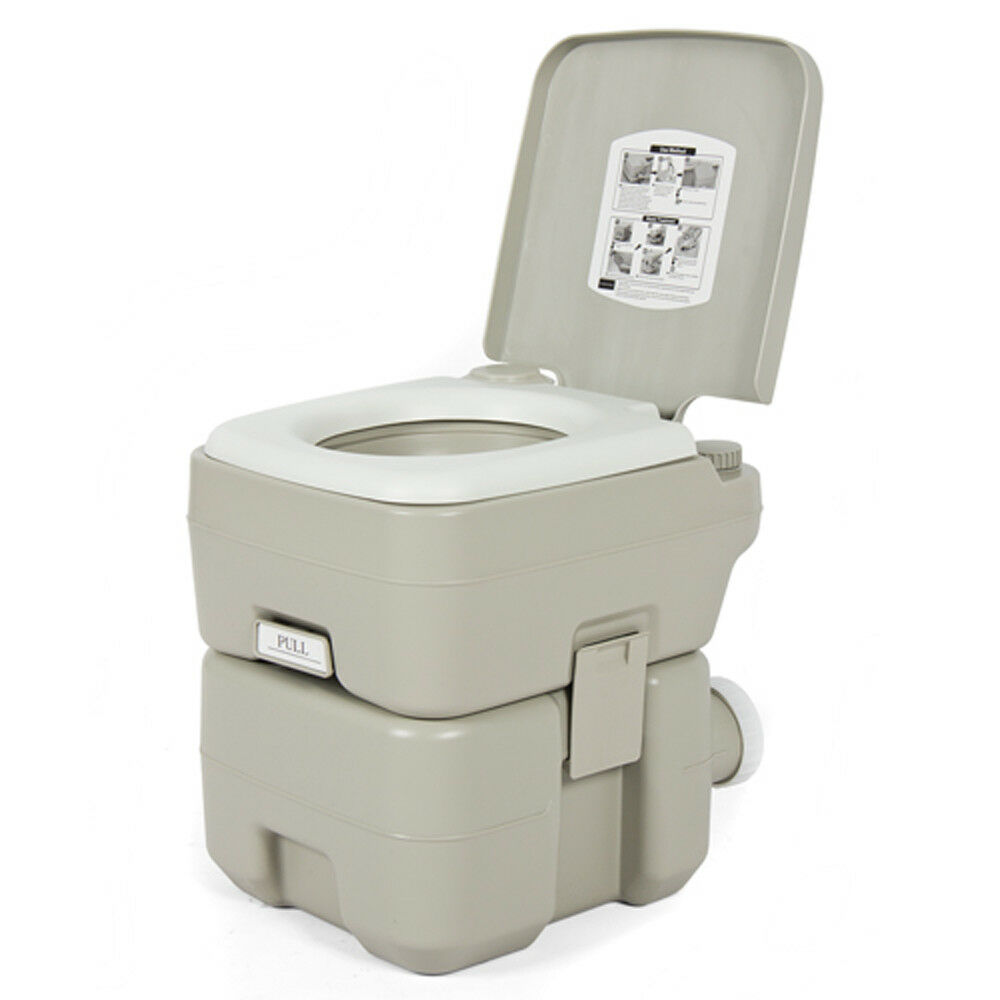 Portable Flush Toilet Outdoor Travel Hiking Camping Vehicle Boat Toilet Potty