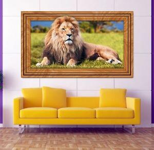 3d Wandtattoo Lowe Tier Afrika Mahne Wandbild Wandsticker Wand