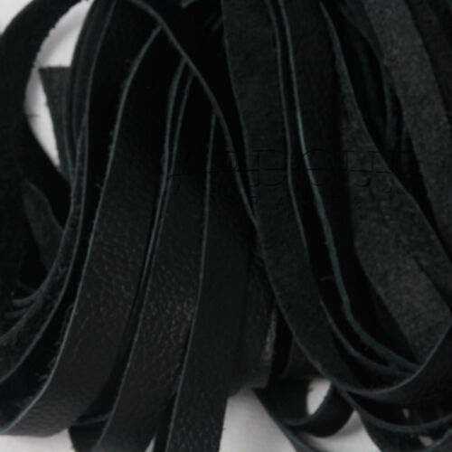 Black Genuine Cow Hide Mild Leather Flogger with 25 thick Tails whip