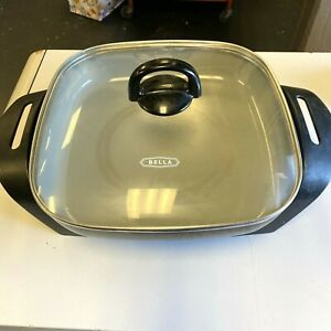"""Bella 12"""" x 12"""" Ceramic 1200W Electric Skillet With Glass Top"""