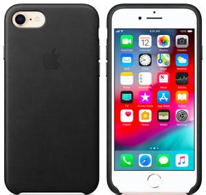 Schwarz-Echt-Original-Leder-Huelle-Leather-Case-fuer-Apple-iPhone-8-7-SE-4-7-034