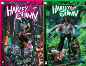 DC Future State Harley Quinn #1 #2 Comic Book Complete Set Chew Variant NM