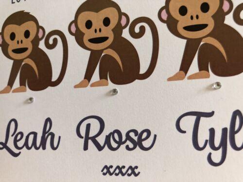 Handmade Personalised Birthday Card Daddy Grandad From The Little Monkeys