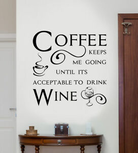 Kitchen-Wall-Quote-034-Coffee-keeps-me-going-034-Wall-Art-Sticker-Modern-Decal