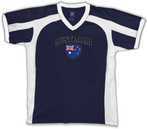 Australia Flag Crest Aussie National Country Pride Retro Sport T-shirt