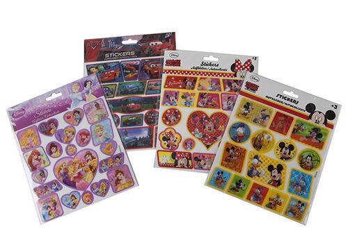 Childrens Fun Autocollants Fête Pack de comblement Disney Frozen Minni Micky Mouse Voitures