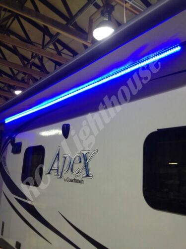 RV LED Awning Light Set w// RF Remote control 20 key RGBW 14/' ft 5050 Waterproof
