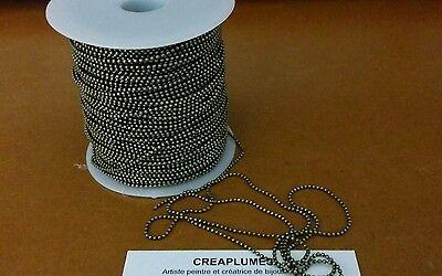 LOT de 2M 2 METRES CHAINES à BILLES BOULES dia 1,5mm BRONZE perles COSTAUD !