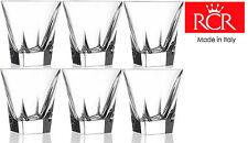 RCR Fusion Crystal BICCHIERI BICCHIERI WHISKY VODKA VETRO Set di 6 (20cl)