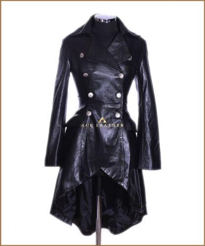 pelle stile 3492 da Black donna vittoriano agnello Valentina Giacca di in gotico AYwxa