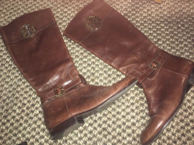 439d20641e19 Tory Burch Adeline 20mm Almond Leather Tall Riding BOOTS 11   41 for ...