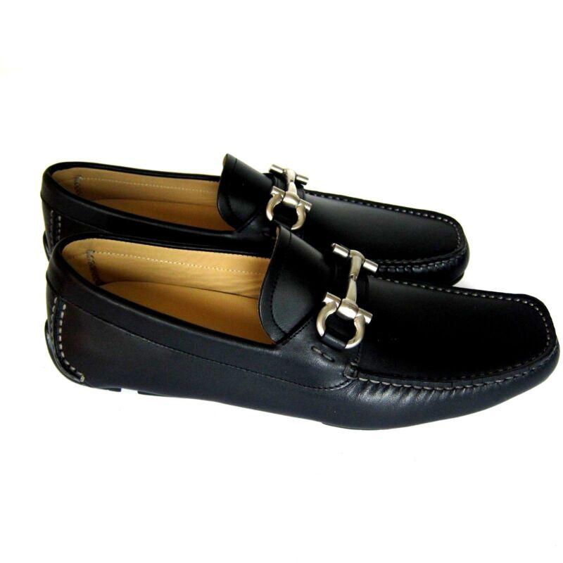 J-3586268 New Salvatore Ferragamo Black Parigi Loafers Shoes Size Us 7.5d
