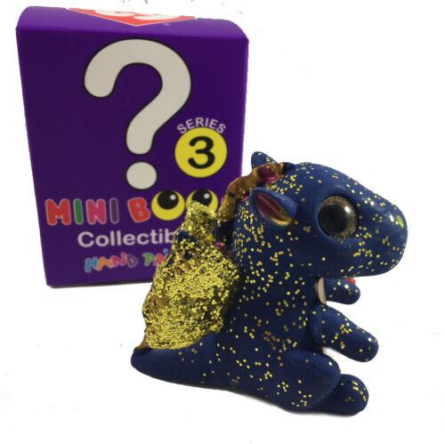 2018 TY Beanie Boos Series 3 Mini Boo Figure Saffire the Blue Dragon Chaser