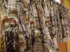 REAL-TREE-Wild-Turkeys-amp-Buck-Deer-Handmade-Window-VALANCES-Licensed-Fabric