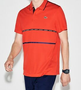 2a119330 LACOSTE POLO SHIRT BNWT - SMALL T3 - RED - SPORT ULTRA DRY - DH8146 ...