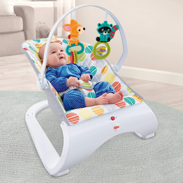 WANGTAO Baby Swing Soothe Baby Swing and Cradling Comfort Electric Baby Rocking Chair Bluetooth Baby Rocker Portable Compact Automatic Swing 3 Speed Front to Back Gliding Motion Blue