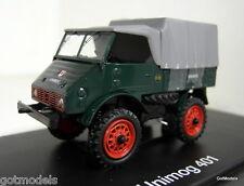 Schuco 1/43 Scale 03111 Mercedes Benz Unimog 401 green covered diecast model