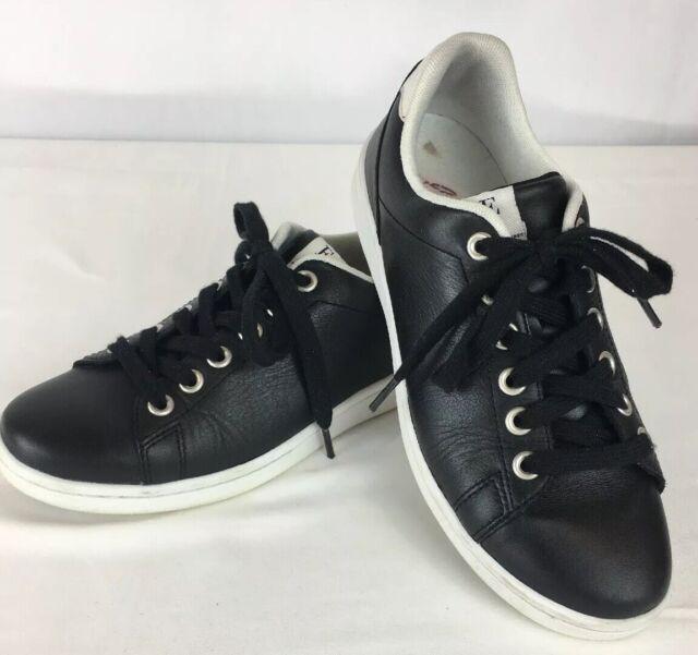 ED Ellen Degeneres Womens Chapanima Sneaker,Pure White//Black Leather,US 6 M
