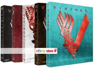 VIKINGS - COMPLETE SERIES 01-04 [pt 1 and 2] (15 BLU-RAY) TV SERIES WARNER