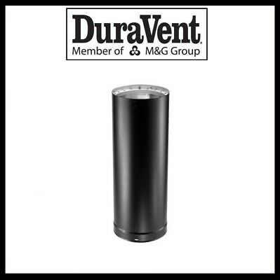 """DuraVent 12/"""" x 6/"""" Double Wall Black Chimney Stove Pipe 8612 New******"""