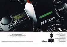 PUBLICITE ADVERTISING  1991   NIKON  appareil photo F-801 S ( 2 pages)