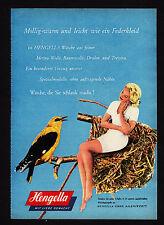 3w1851/ Alte Reklame von 1960 - HENGELLA - Trikot- u. Strickwarenfabrik - Aalen