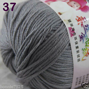 Sale-1-Skein-x50g-Baby-Cashmere-Silk-Wool-Children-hand-knitting-Crochet-Yarn-37