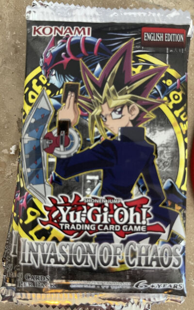 Yugioh INVASION OF CHAOS Sealed Original 2004 Booster Pack 1st EDITION NEW IOC