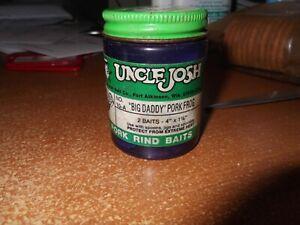 "rare find Uncle Josh Big Daddy Pork Frog #10 2 baits 4/"" x 1 1//4 Blue sealed"