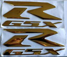 SUZUKI 3D SILVER CHROME BADGE LOGO STICKERS GRAPHICS DECALS SUPERBIKE GSXR GSR