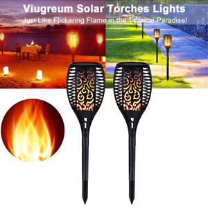 2X-LED-Solar-Path-Light-Torch-Flame-Flickering-Waterproof-Outdoor-Garden-Pathway