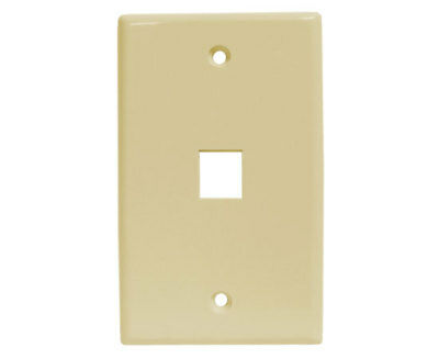 WP1-041//1P//WH 25 Pack 1 Port Ethernet Wall Plate For Keystone Inserts WHITE