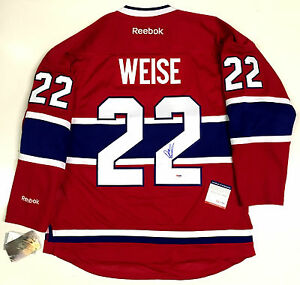outlet store 3c397 f8c4d Details about DALE WEISE SIGNED MONTREAL CANADIENS REEBOK PREMIER HOME  JERSEY PSA/DNA COA