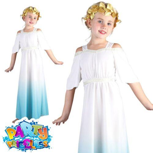 Child Roman Goddess Costume Girls Cleopatra Egyptian Toga Book Week Fancy Dress