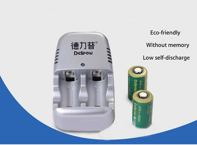 SINCE SE-CR2 CR2 3V Charger 2X Ultrafire 15270 CR2 800MA Rechargeable Battery