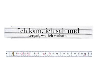 ZOLLSTOCK Meterma/ß Spruch BESTER CHEF DER WELT Meterstab Geschenk