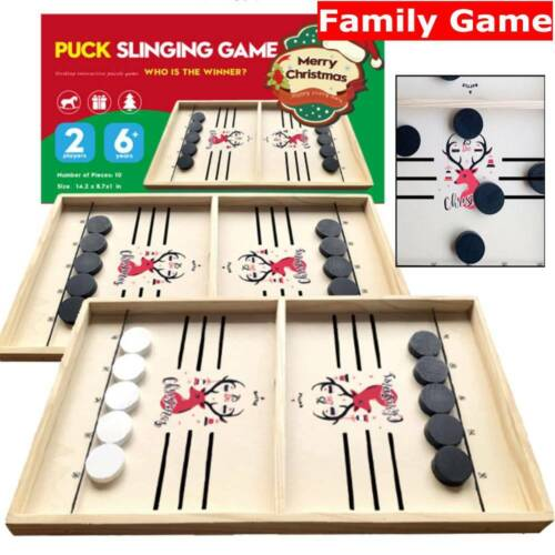 Big Wooden Hockey Game Table Game Family Fun Game Kids Children Christmas Gift