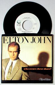 Elton-John-Who-Wears-These-Shoes-7-034-Single-1984-Vinyl-45RPM-Lonely-Boy