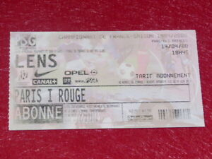COLLECTION-SPORT-FOOTBALL-TICKET-PSG-LENS-14-AVRIL-2000-Champ-France