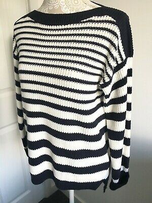 Size 24 M/&S Womens Long Button Sleeve CABLE KNIT Cotton Wool Jumper