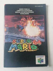 Notice Jeu Nintendo 64 Super Mario 64 Version EUR