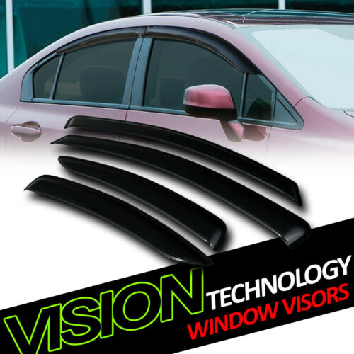 Rain//Wind Guard Smoke Tint Vent Shade Deflectors Window Visors For 04-12 Galant