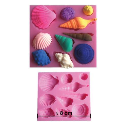 Moule silicone 3D Coquillages pour pâte à sucre décoration gateau cake design