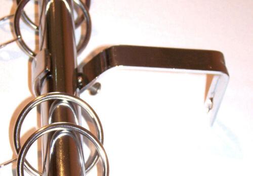 19 mm Chrome Extensible Garant Haut tringle à rideau W Swirl Leaf Embouts 1.2 M 2 m