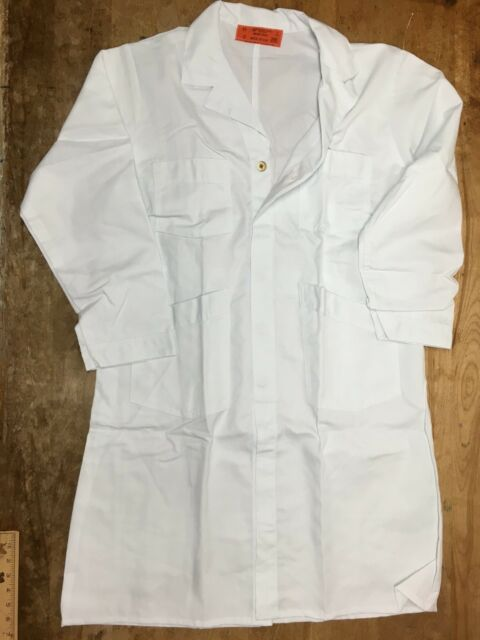 select sizes* Tan or White Shop Coat-BRAND NEW /& IRREGULAR MADE IN THE USA