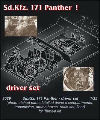 Honesty Czech Master 1/35 Pz.v Panther Drivers Compartment For Tamiya Kit # 3029 Aircraft (non-military)