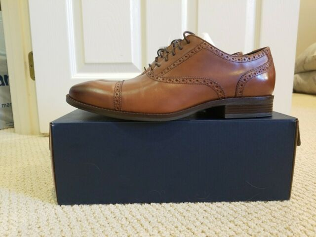 Cole Haan Wayne Cap Toe Oxford Leather Oxfords Shoes C09167 Mens MultiSize