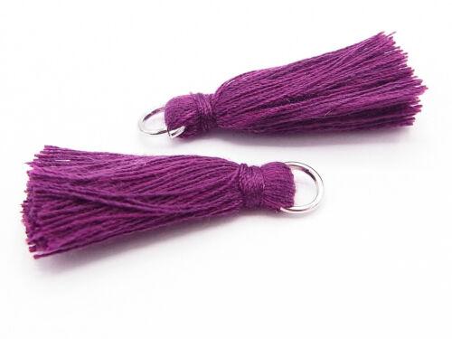 30 mm Tassel con corchete troddel hilaturas de algodón 2 x lana, lila oscuro; t18 aprox